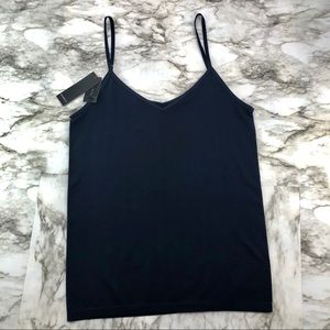 The Limited Navy Blue Reversible Stretch Cami Tank